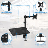 Laptop Desk Stand and Monitor Mount | MI-4352LTMN