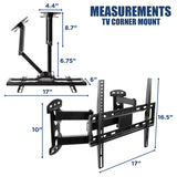 Full Motion Corner TV Wall Mount | MI-4481