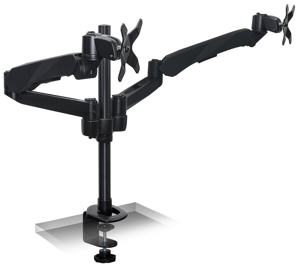 Mount-It! Articulating Dual Monitor Mount. Fits 13-27 Inch Screens, Black – MI-45116B - Mount-It!
