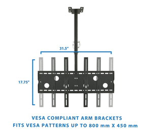 "Mount-It! Full-Motion TV Ceiling Mount 32-60"" Screens - MI-501B - Mount-It!"