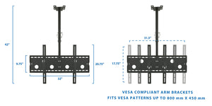 Mount-It! Dual Front & Back TV Ceiling Mount - MI-502 - Mount-It!