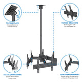 Triple TV Display Ceiling Mount | MI-515