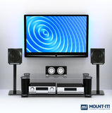 Mount-It! Speaker Floor Stands (pair) - Black - MI-58B - Mount-It!