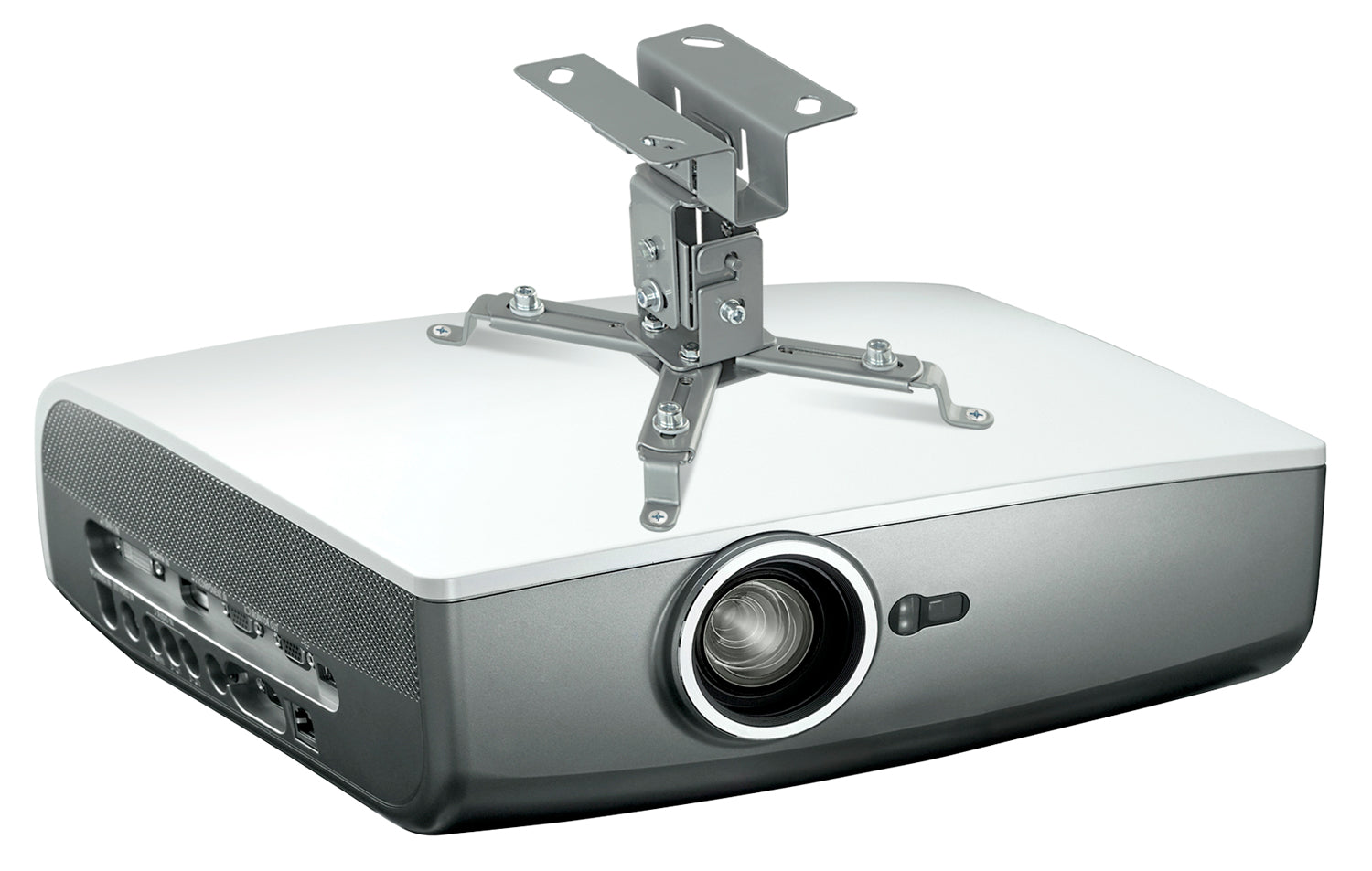 Mount-It! Ceiling Video Projector Mount  - Silver - MI-605