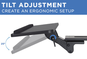 Mount-It! Adjustable Keyboard and Mouse Drawer Platform With Ergonomic Wrist Rest Pad- MI-7132 - Mount-It!