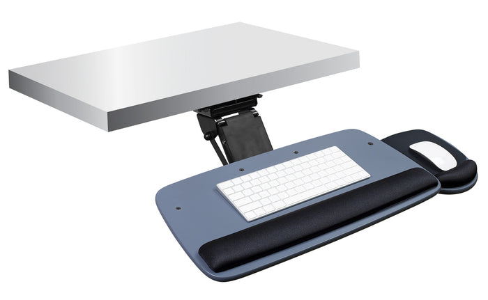 Mount-It! Adjustable Keyboard and Mouse Drawer Platform With Ergonomic Wrist Rest Pad