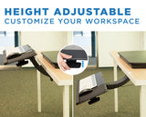 Mount-It! Adjustable Under Desk Keyboard and Mouse Drawer Platform With Ergonomic Wrist Rest Pad - MI-7139 - Mount-It!