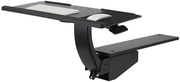 Mount-It! Adjustable Under Desk Keyboard and Mouse Drawer Platform With Ergonomic Wrist Rest Pad - MI-7139