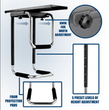 CPU Under Desk Mount Computer Tower Holder| MI-7155
