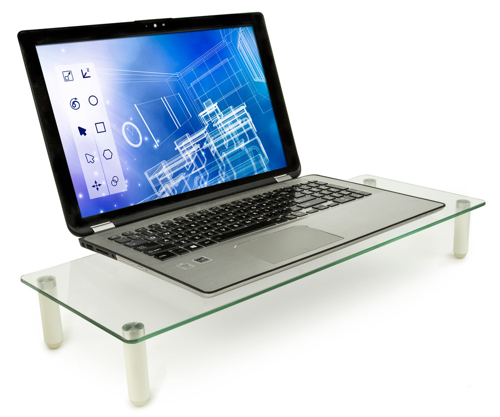 Mount-It! Ergonomic Glass Monitor & Laptop Desk Riser - MI-7263 - Mount-It!