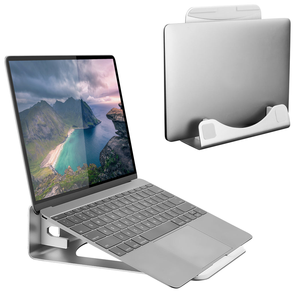 Mount-It! Vertical Aluminum Monitor Riser & Laptop Stand Holder – MI-107276