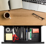 Under Desk Pull-Out Drawer Kit with Shelf | MI-7291
