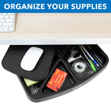 Under Desk Swivel Storage Tray with Mouse Pad | MI-7293