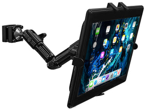 "Universal Tablet Headrest Mount, Rear-facing Mount for Cars, Fits 7"" - 11"" Tablets, Black - MI-7310"