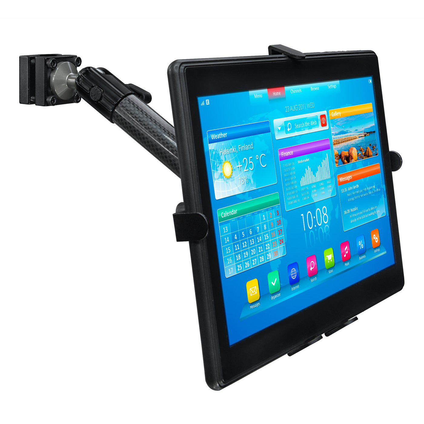 Mount-It! Car Tablet Mount for Apple iPad Pro/Air/Mini, Samsung Galaxy Tab, Microsoft Surface, Amazon Fire, Other Tablets with 7