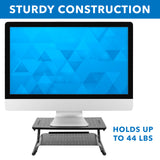 Two Tier Monitor Stand with Shelf | MI-7361