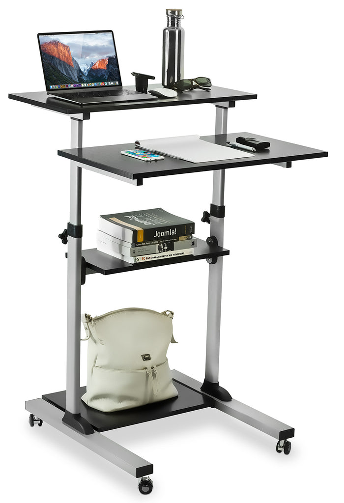 Mount-It! Height Adjustable Rolling Stand up Desk - MI-7940
