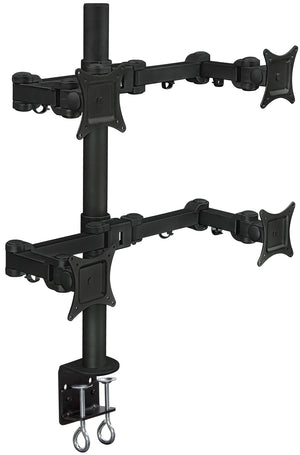 Mount-It! Articulating Quad Monitor Desk Mount w/Dual Arm Screens - MI-10754 - Mount-It!
