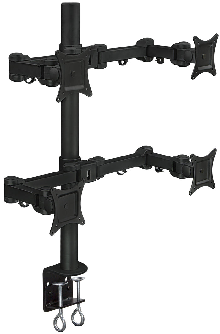 Mount-It! Articulating Quad Monitor Desk Mount w/Dual Arm Screens - MI-10754