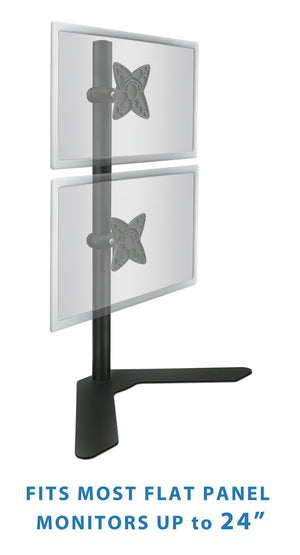"Mount-It! Vertical Dual Computer Monitor Desk Stand 13-27"" Screens - MI-758 - Mount-It!"