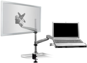 Mount-It! Articulating Single Monitor Mount w/Vented Laptop Tray - MI-75916 - Mount-It!