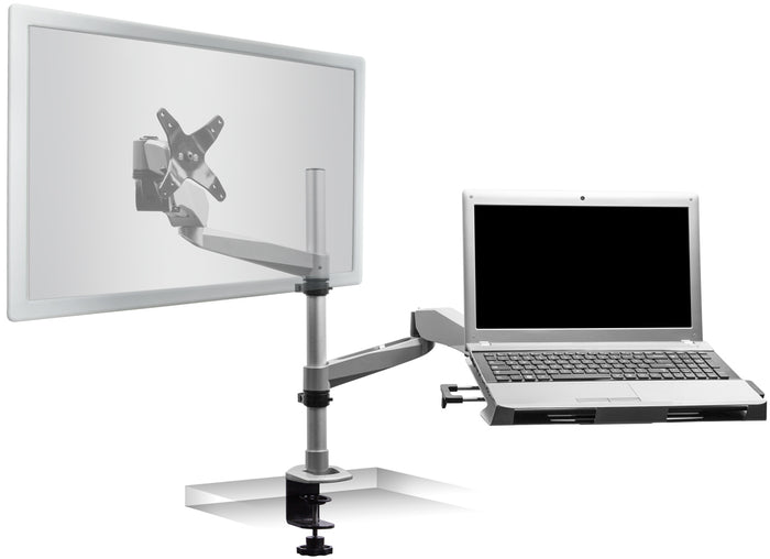 Mount-It! Articulating Single Monitor Mount w/Vented Laptop Tray - MI-75916