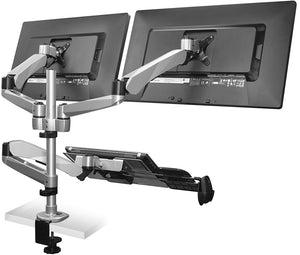 Mount-It!  Dual Monitor Mount & Vented Laptop Tray - MI-75926 - Mount-It!