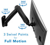 Mount-It! Single Monitor Wall Mount Arm - MI-765 - Mount-It!