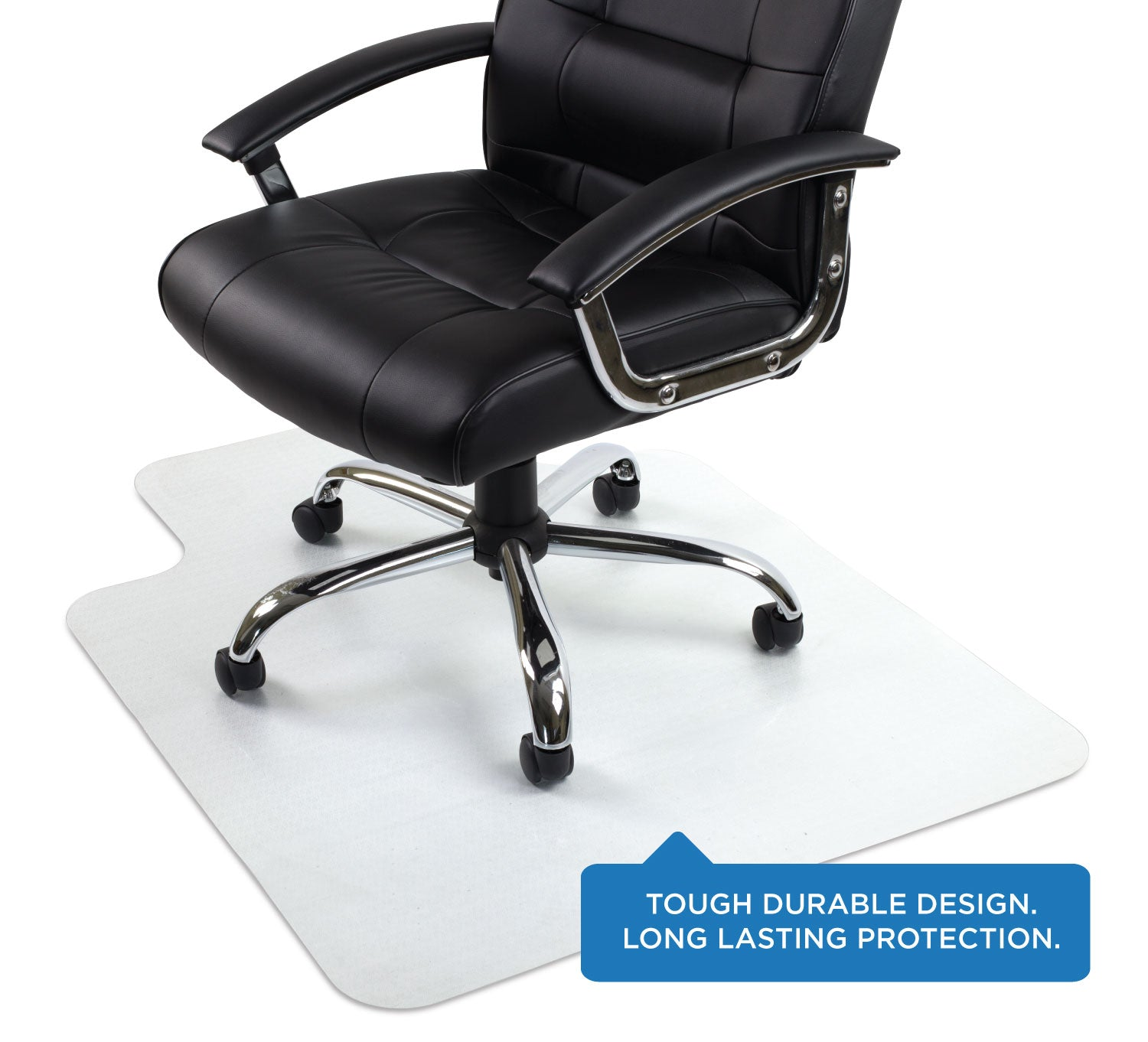 Picture of: Clear Desk Chair Mat For Hardwood Floor Mi 7818 Mount It