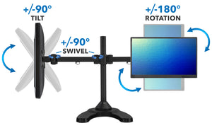 Mount-It! Articulating, Dual Monitor Desk Stand - MI-781 - Mount-It!