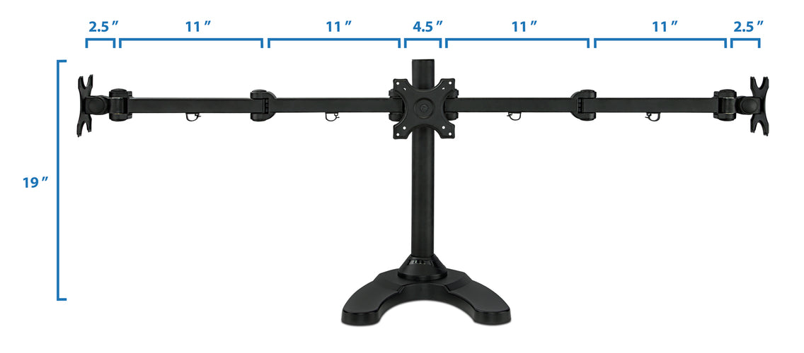 Full Motion Triple Monitor Desk Stand | MI-789 2