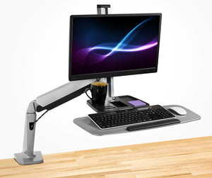 Mount-It! Single Monitor Adjustable Sit Stand Workstation - MI-7903 - Mount-It!