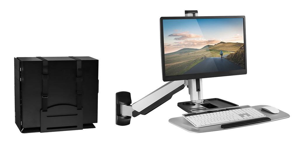 Mount-It! Wall Mounted Single Monitor Workstation - MI-7905 - Mount-It!