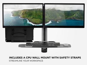 Mount-It! Wall Mount Dual Monitor Workstation - MI-7906 - Mount-It!