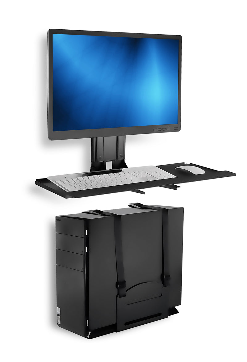 Mount It Monitor And Keyboard Wall Mount With Cpu Holder