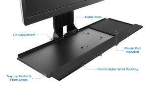 Mount-It! Monitor and Keyboard Wall Mount with CPU Holder – MI-7919 - Mount-It!