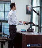 Mount-It! Single Monitor Sit-Stand Desk Mount w/ Keyboard Tray - MI-7921 - Mount-It!