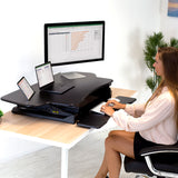 Extra Wide Height-Adjustable Standing Desk Converter | MI-7925