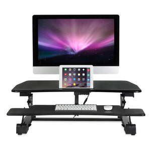 Mount-It! Electric Standing Desk Converter with Built In USB Port - MI-7927e
