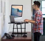 Mount-It! Height Adjustable Sit-Stand Desk Converter - MI-7929 - Mount-It!