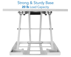 Mount-It! Height Adjustable Sit-Stand Desk Converter, White-MI-7929W - Mount-It!