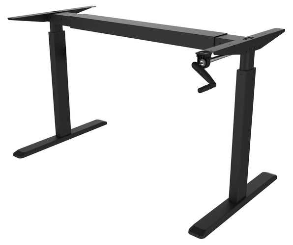 Hand Crank Sit-Stand Desk (Frame Only), Black | MI-7931 2