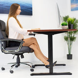 Hand Crank Sit-Stand Desk (Frame Only), Black | MI-7931