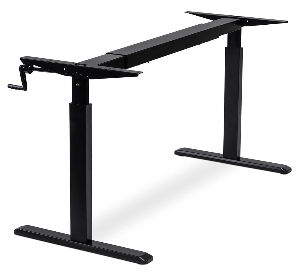 Mount-It! Sit-Stand Desk (Hand crank) - MI-7931 - Mount-It!