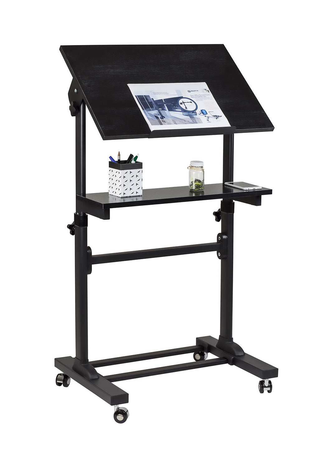 Mount-It! Heavy Duty Mobile Stand Up Desk - MI-7941 - Mount-It!