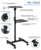 Mount-It! Portable Height Adjustable Laptop & Projector Stand - MI-7943 - Mount-It!