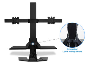 Mount-It! Sit-Stand Desk Converter for Dual Monitors-MI-7952 - Mount-It!