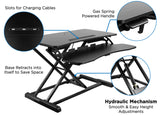 Mount-It! Adjustable Standing Desk Converter With Keyboard Tray - MI-7953 - Mount-It!