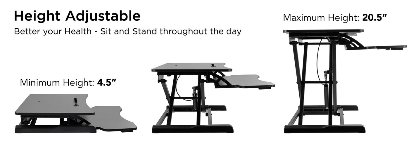 Adjustable Standing Desk Converter With Keyboard Tray | MI-7953 2