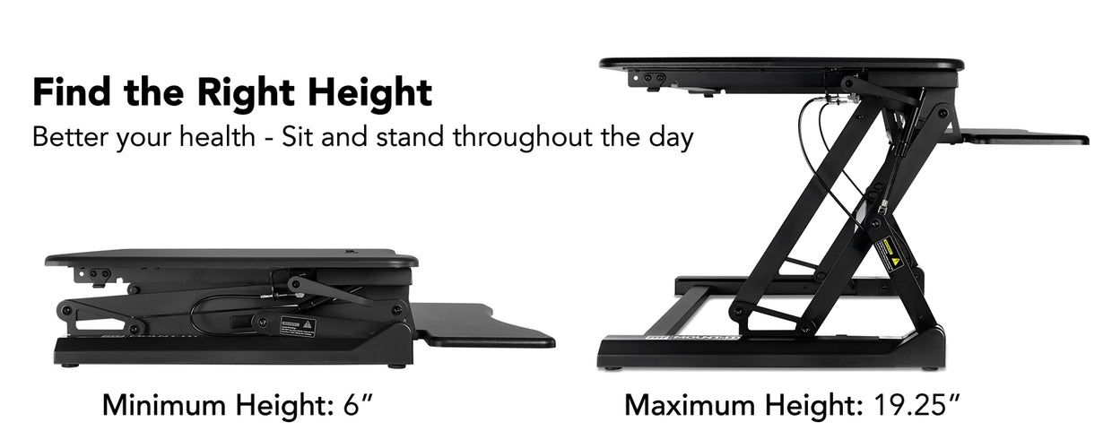 Standing Desk Sit-Stand Desk Converter Height Adjustable, Large Surface Area | MI-7955 2